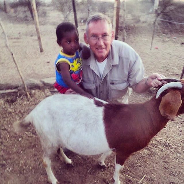 Little Nepandu receiving one very pregnant goat. After returning the first born baby to pass on to others, Nepandu's healthy goat should expect 5-6 kids after two years. That should be more than enough to pay for his education costs right through a university degree as well as assisting to feed his family.  #passiton #familyfocused #nonprofit #sustainableprojects #openhands