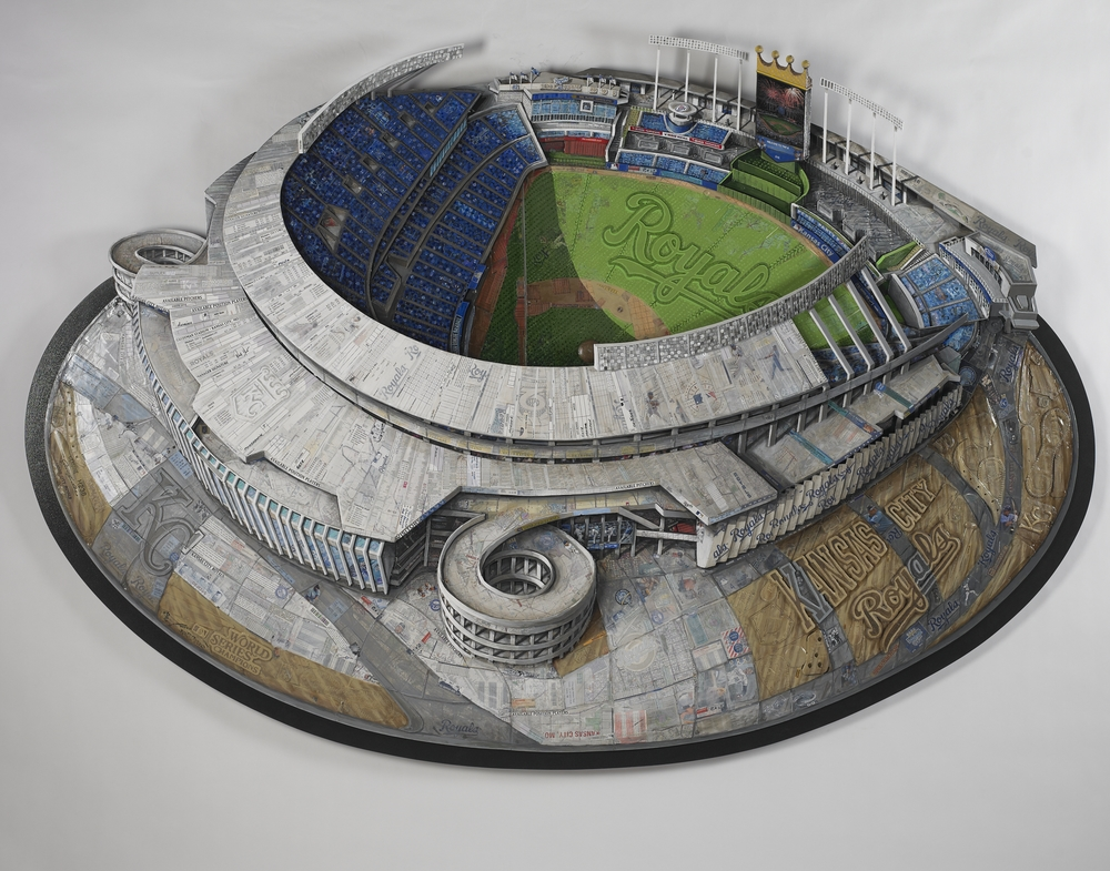 Created with objects from the Kansas City Royals baseball team.
