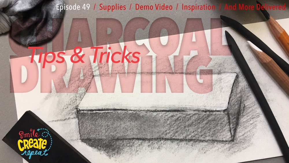 Check out our YouTube demo to preview all the new tools you will be using from our April 2018 charcoal box.