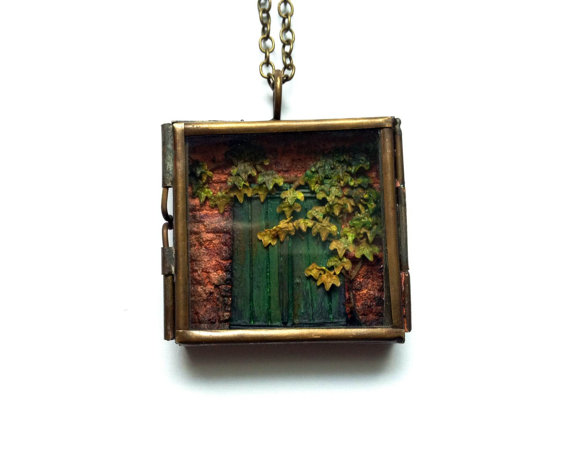 "Old Door No. 5, 1.5""x1.5"""