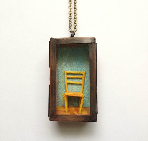 "Van Gogh's Chair, 1""x1.75"""