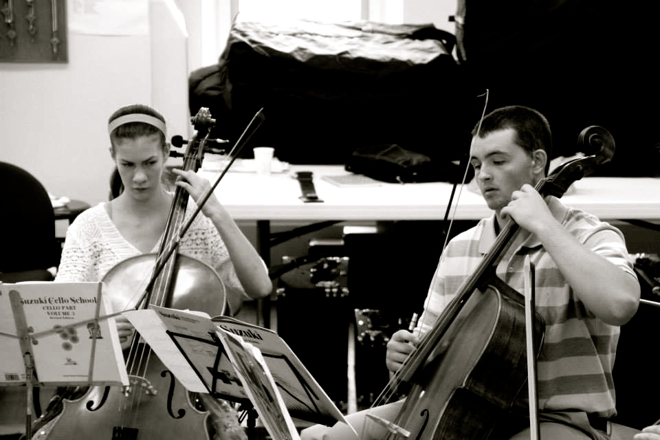Concentrating faces: spring studio recital, May 2015