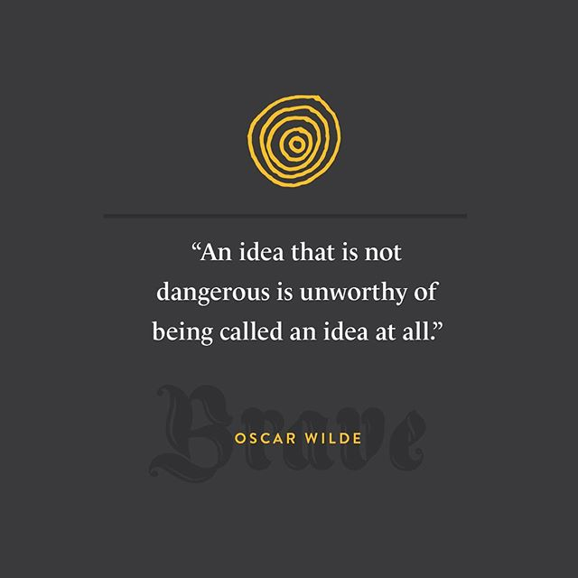 Creativity is Fearless // #creativity #branding #seattledesign #wild #oscarwilde #agencylife #brandsforthebrave