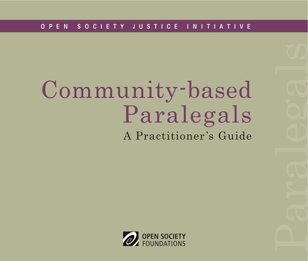 Community-based Paralegal Practitioner's Guide