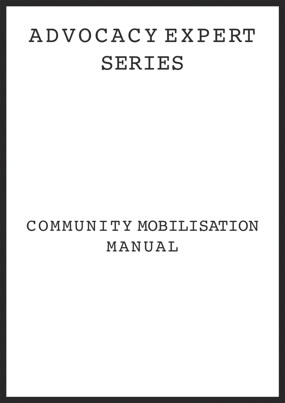 Community Mobilization Manual