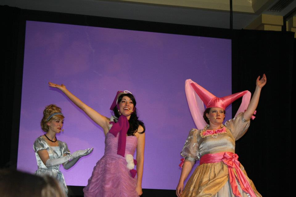 So Cinderella tried to teach them how to sing. They did their best!