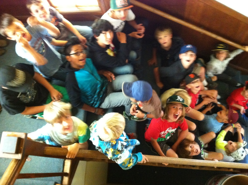 Kids wild on stairs.JPG