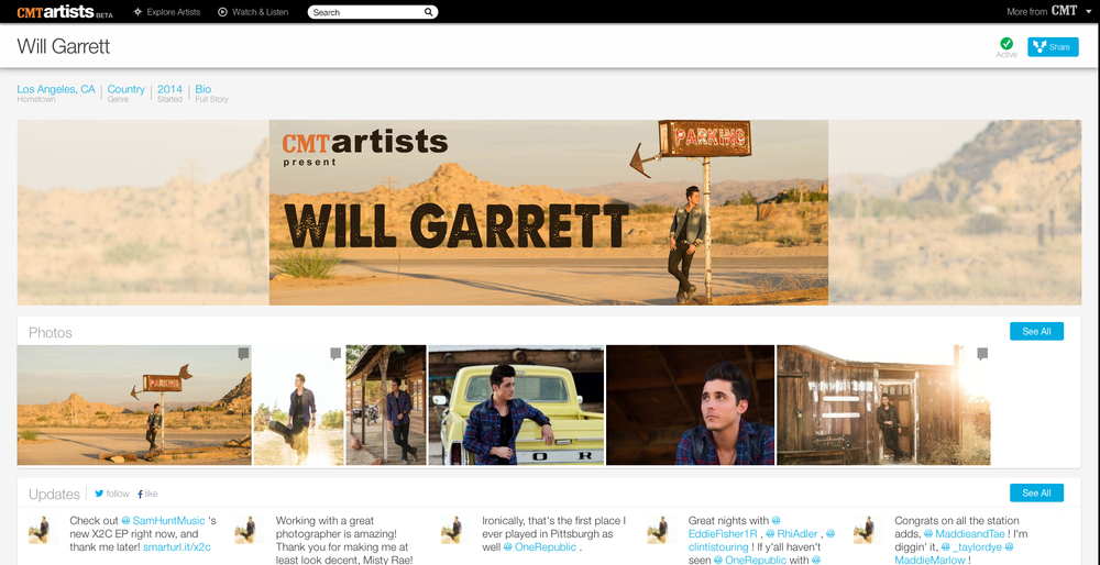 Check out WILL on CMT.com and MTV.com!