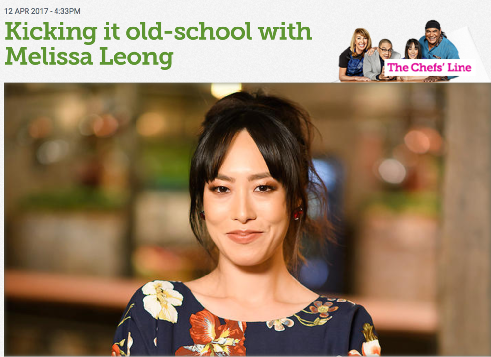 Fresh off the film set and ready to hop a plane, Melissa Leong talks about eating fearlessly, food writing as a career, and why Australia's culinary scene could do with a dose of glamour.  Siobhan Hegarty - 16 March 2017, SBS Food. Original piece  here .