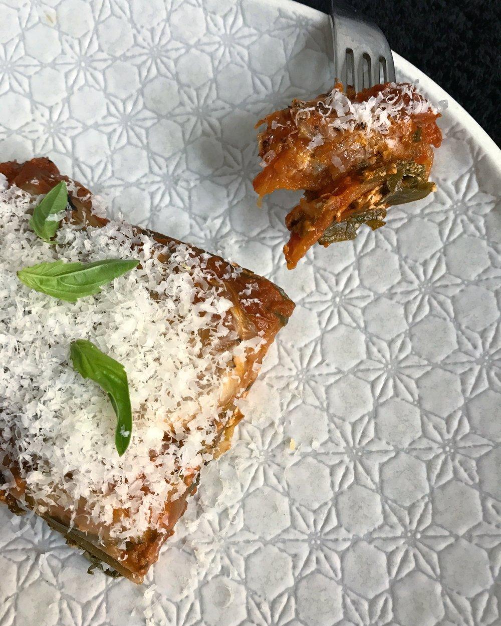 Pasta free lasagne
