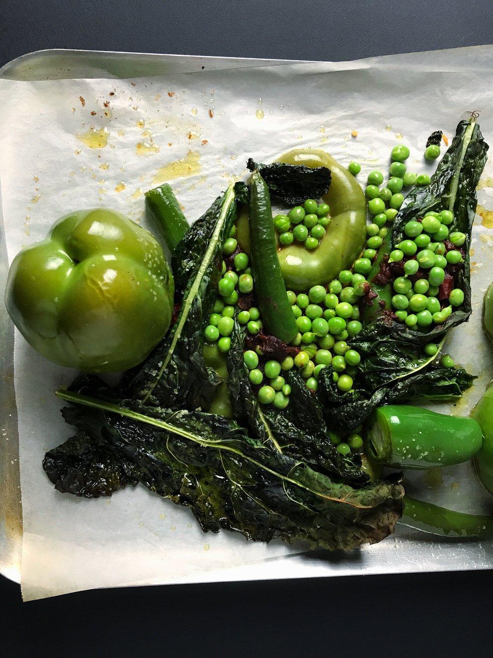 pozole verde vegetables