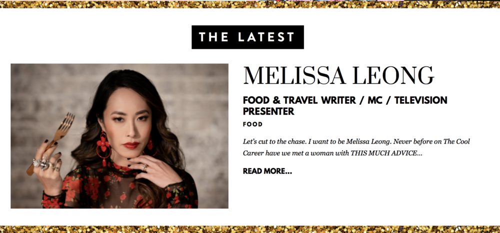 Melissa Leong The Cool Career