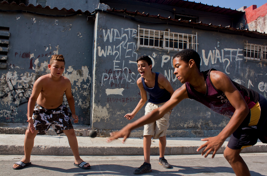 Competition heating up in the streets of Havana. Cuba, 2013.