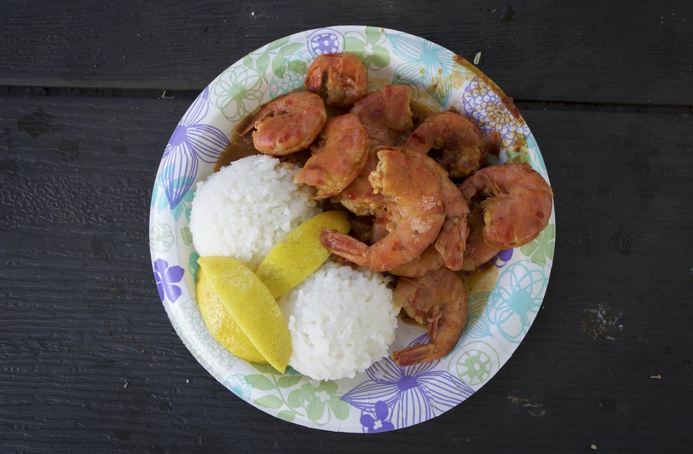 Garlic shrimp from Giovanni's Shrimp Truck. Another North Shore gem combining some of the island's best flavors. No need to work on presentation when the food is this good.