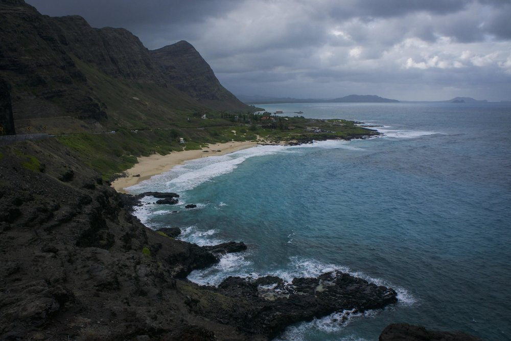 East side drive near Diamond Head. White sand beaches are nice, but the dramatic transition between mountains and ocean is what will always remind me of this place.