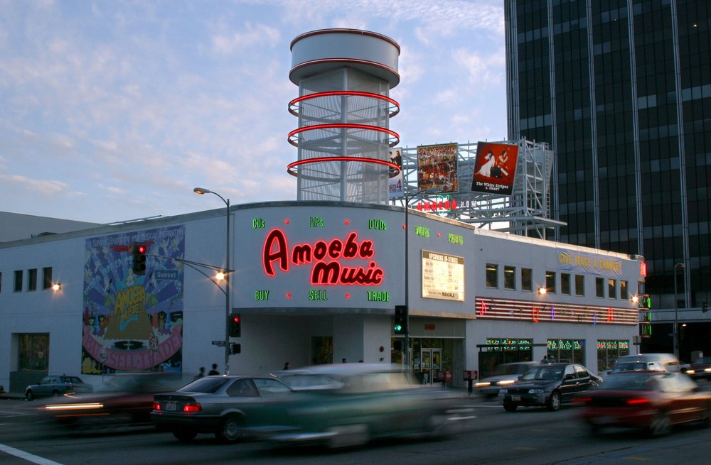 Amoeba Records in Hollywood, the largest independent record store in the world