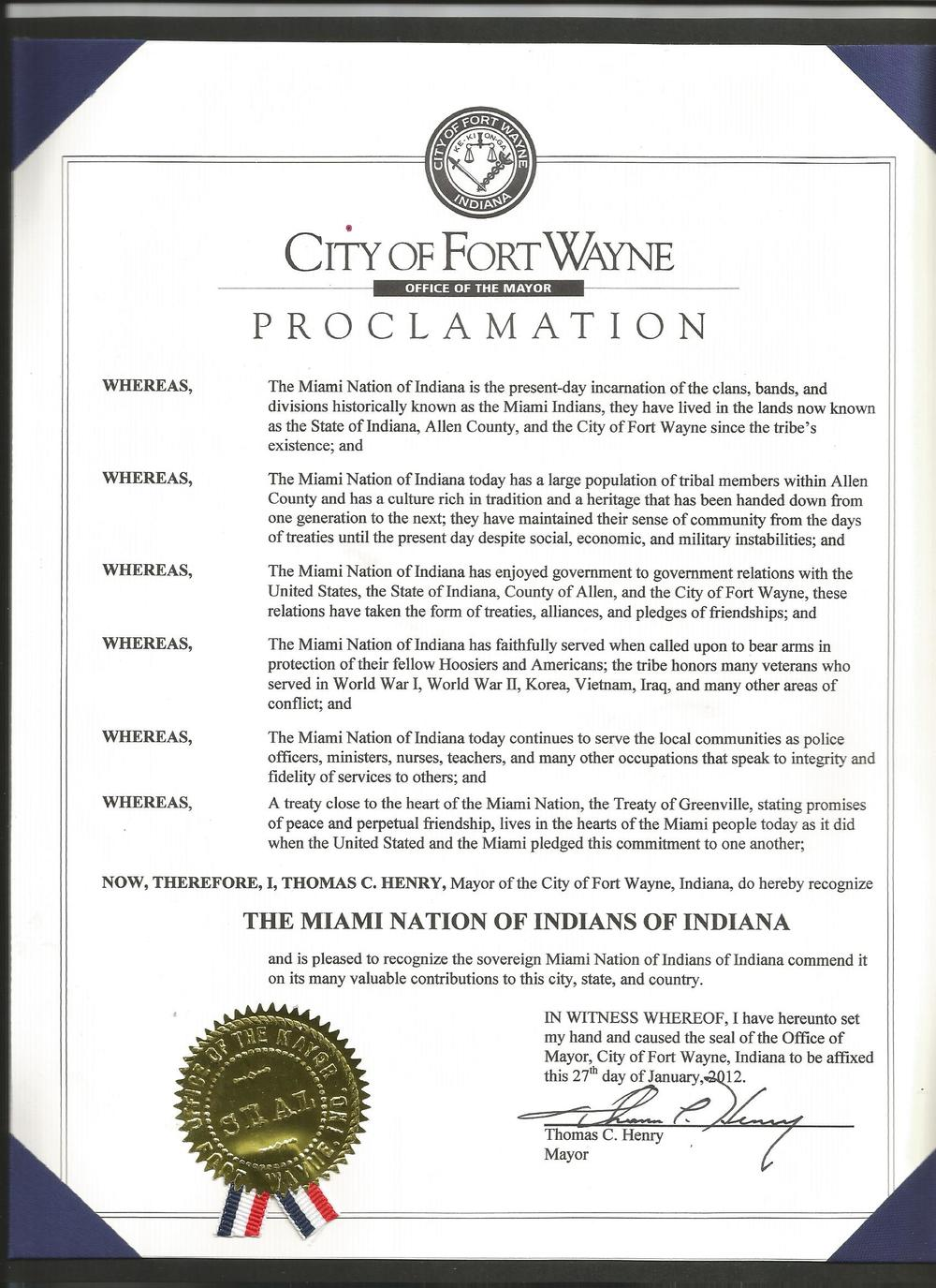 Proclamation City of fort Wayne.jpg