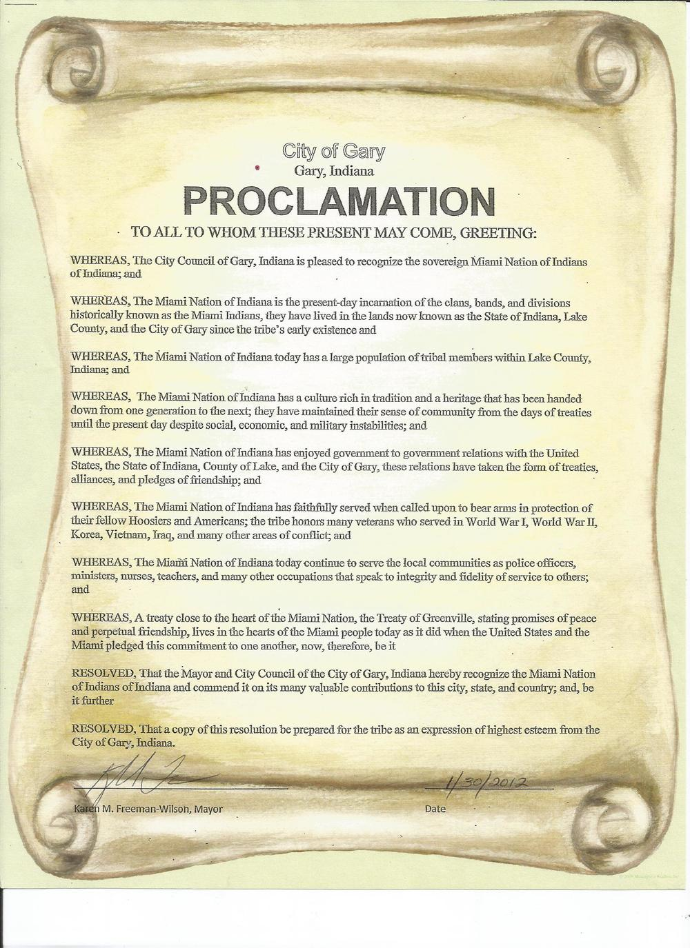 Proclamation City of Gary.jpg