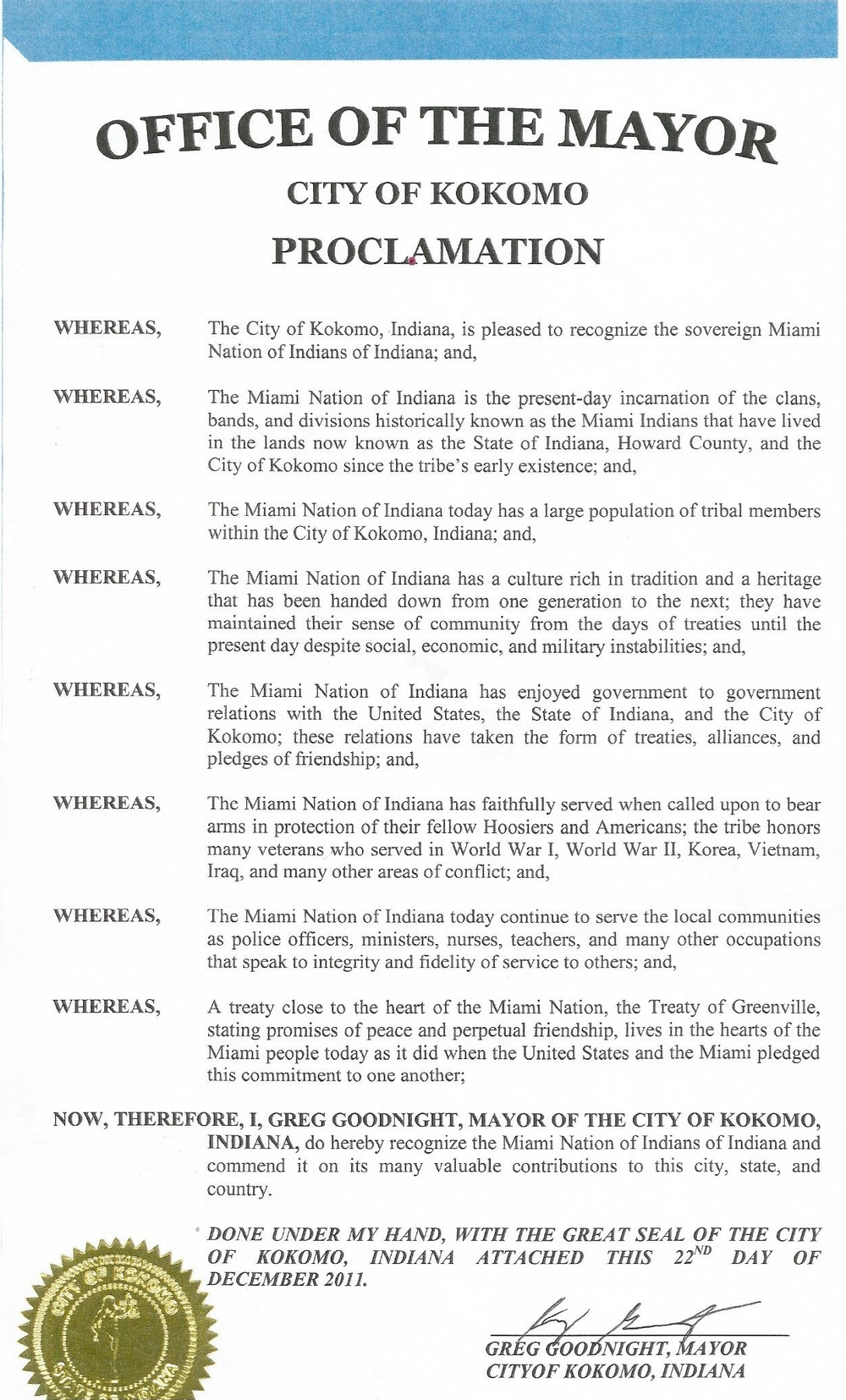 Proclamation City of Kokomo.jpg