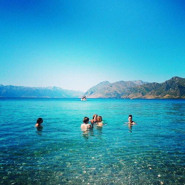 Chilling in the Lake Wanaka New Zealand