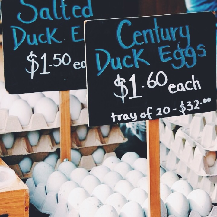 Duck eggs, because the best cakes are made with duck eggs.