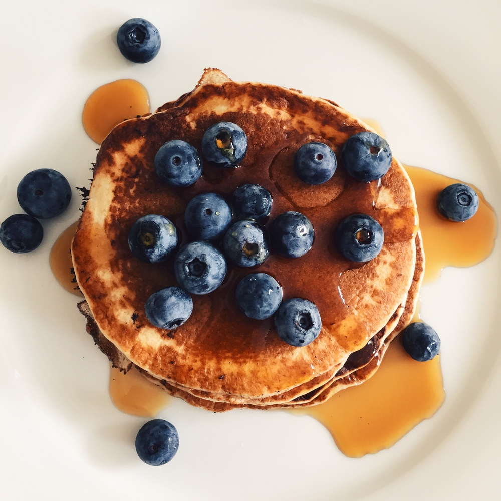 Blueberry breakfast stack
