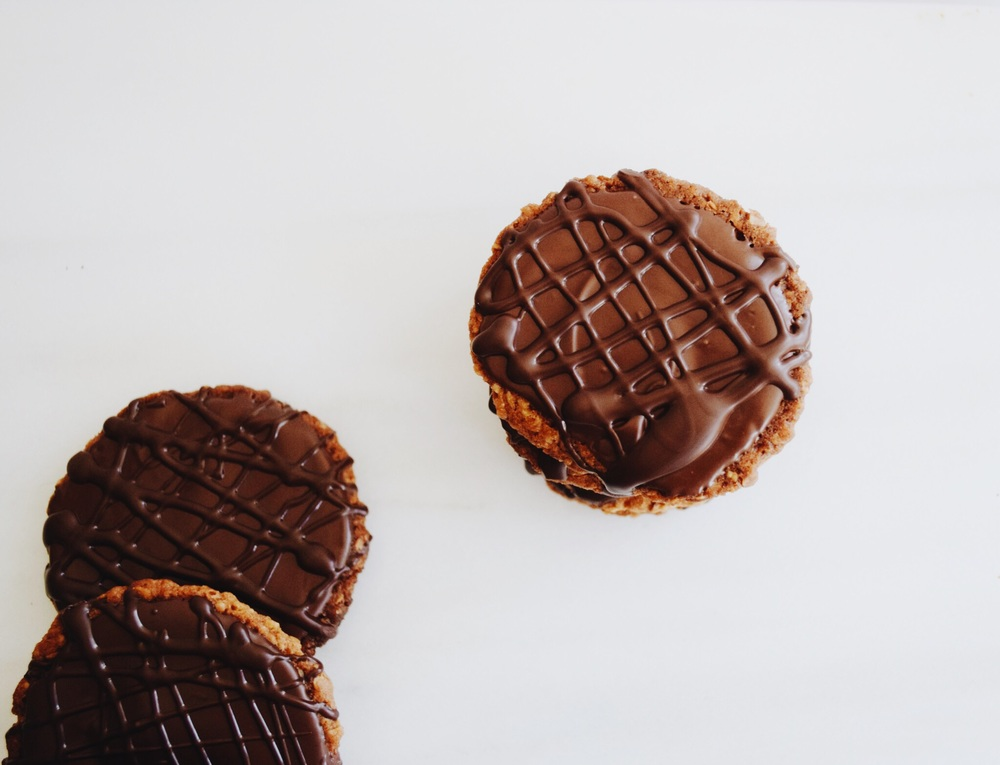 Chocolate coated hobnobs