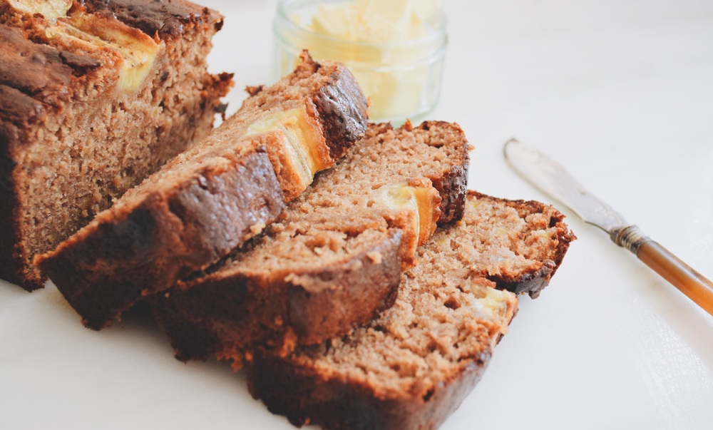 refined sugar & gluten free banana bread