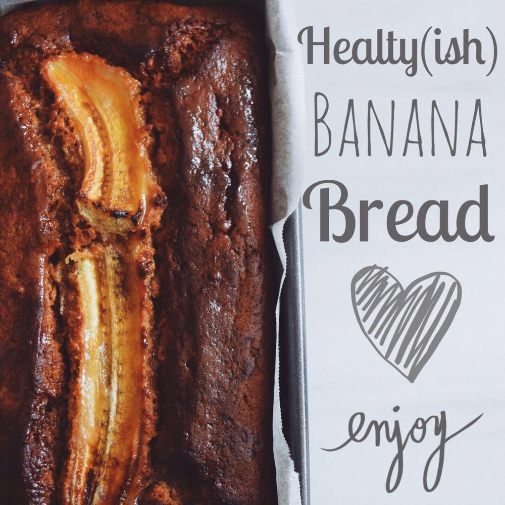 Healthy gluten free & refined sugar free banana bread
