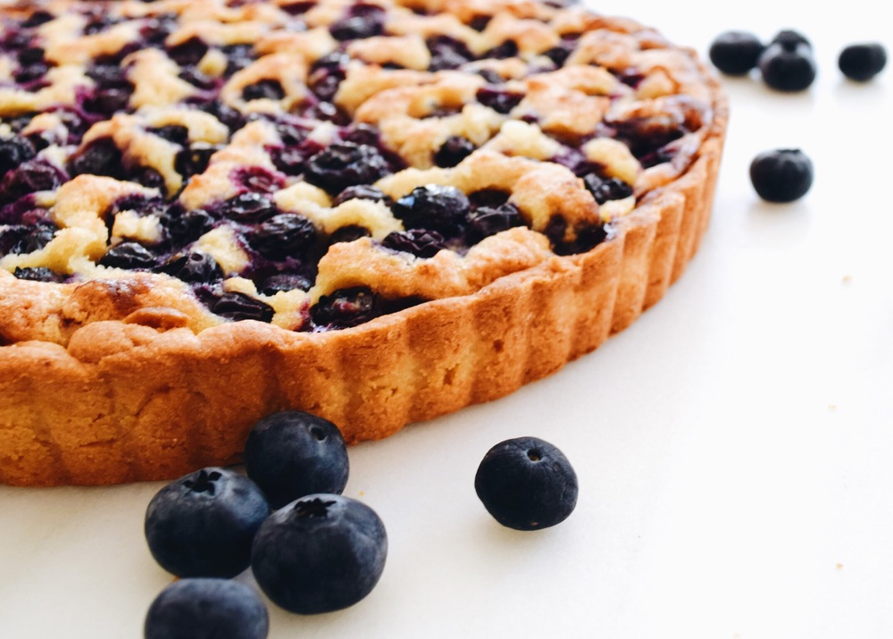 blueberry tart brown butter pastry