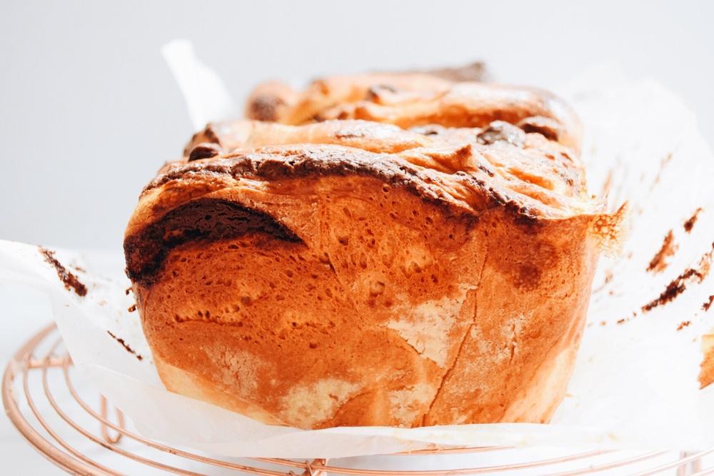 Pull apart brioche loaf chocolate hazelnut