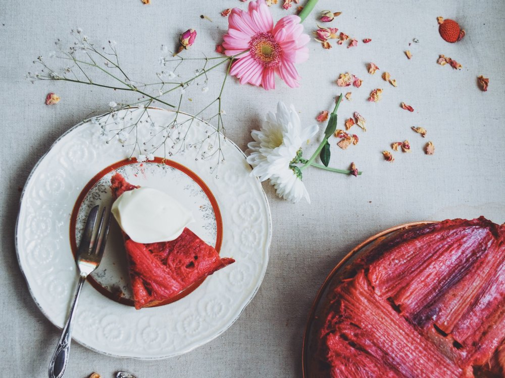 vibrant red cake