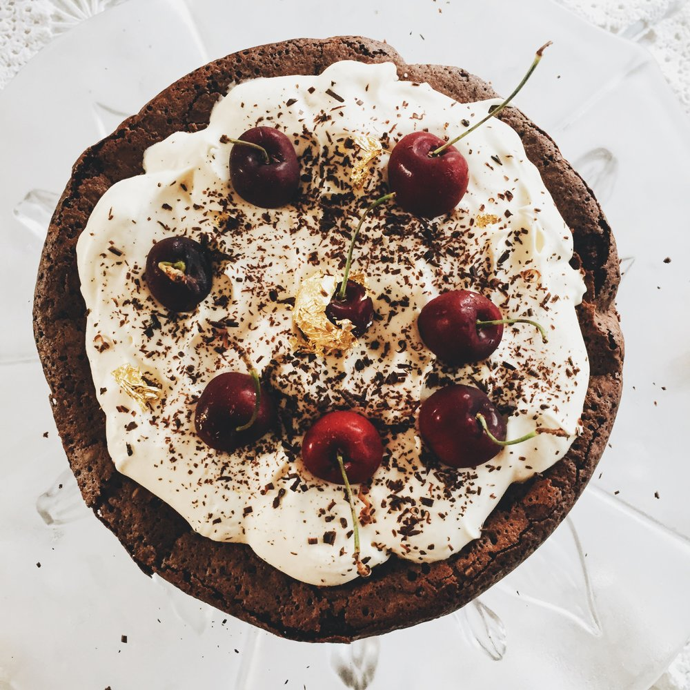 Gluten free Black forest gateau