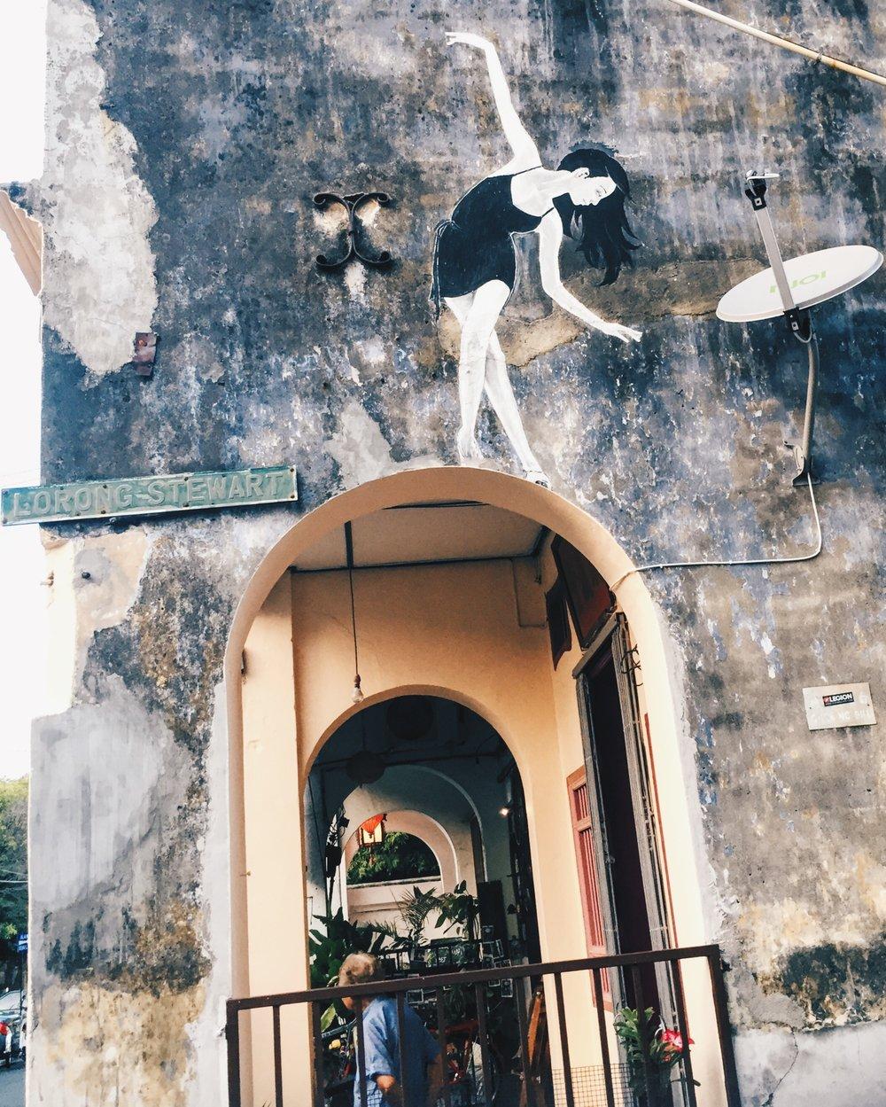 Wander: Street Art Penang Ballerina George Town