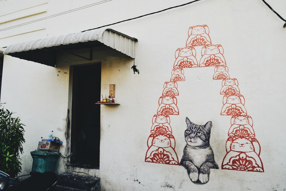 Wander: Street Art Penang Fortune Cat George Town
