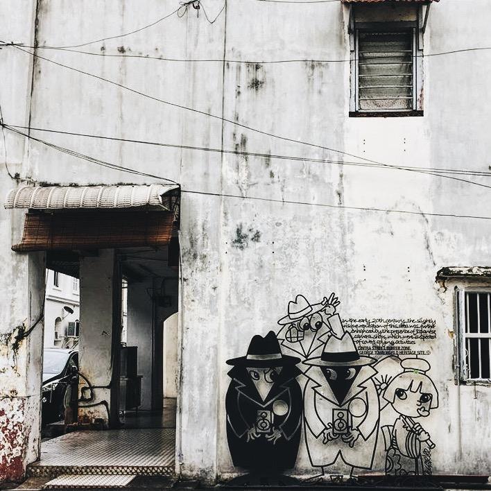 Wander: Street Art Penang Japanese Spy Penang