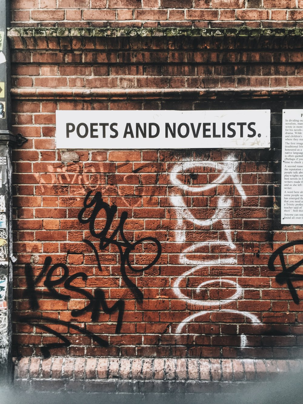 Dublin Street art poets & novelists