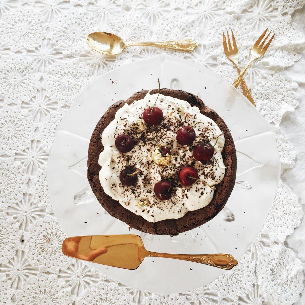 Gluten free chocolate christmas cake