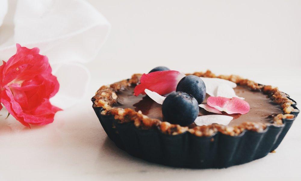 vegan ganache tarts
