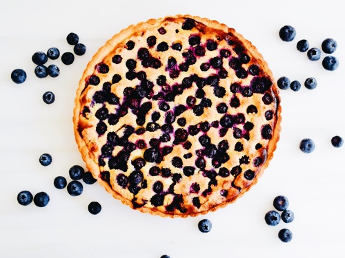 Keep the Blues At Bay - aka- Blueberry Frangipane Tart
