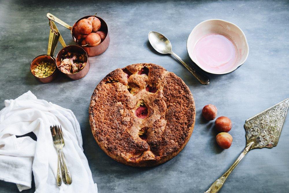 plum pistachio cake 2