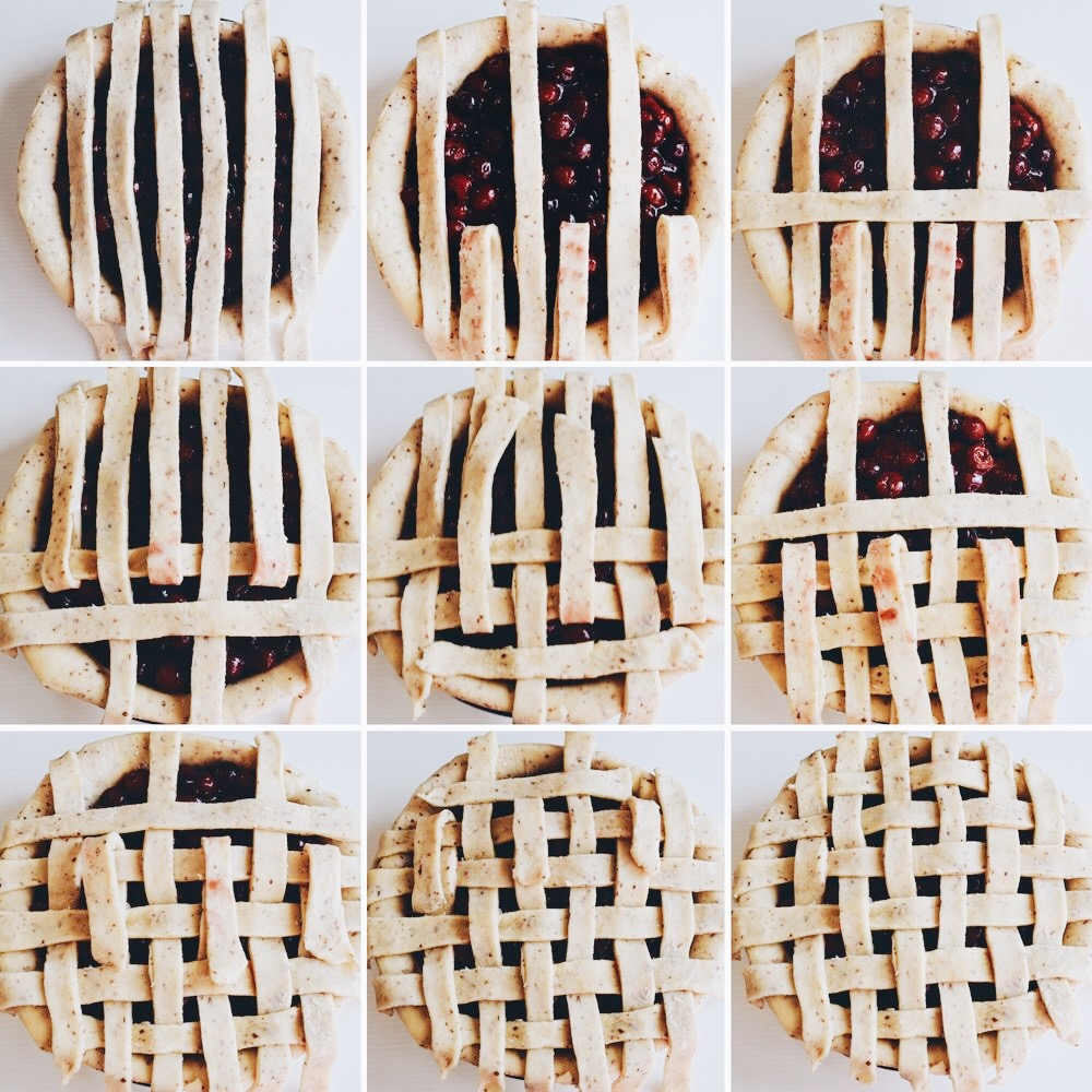 How to do a lattice pie crust