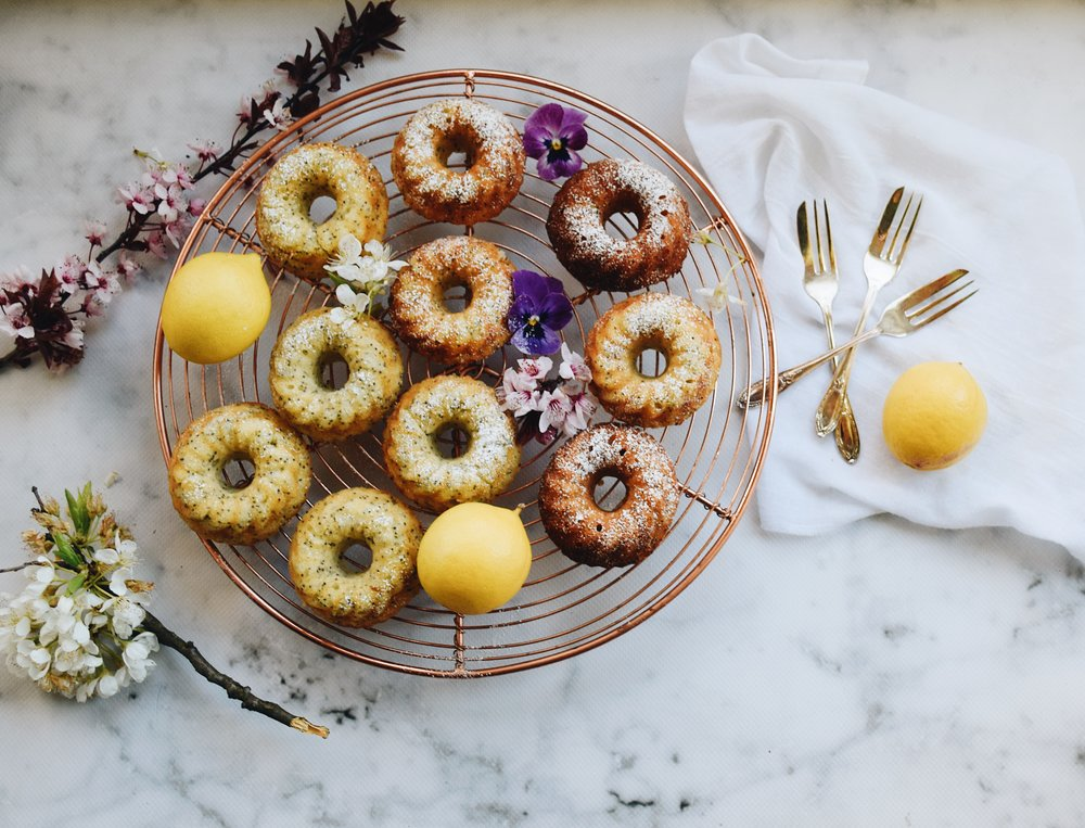 Perfect for afternoon tea; lemon bundt cakes