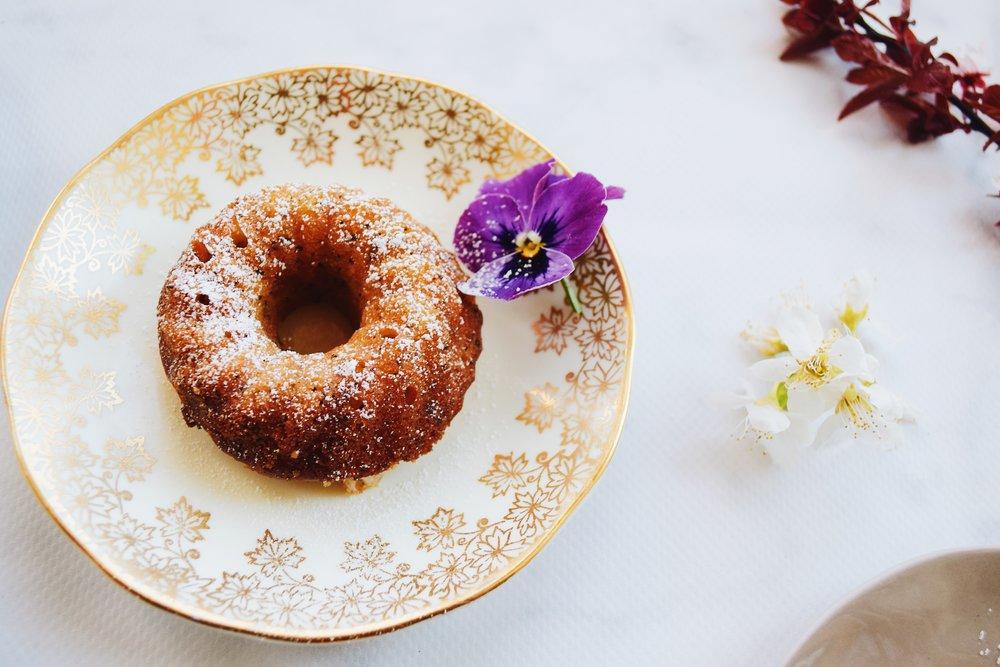 Lemon syrup poppy seed cakes
