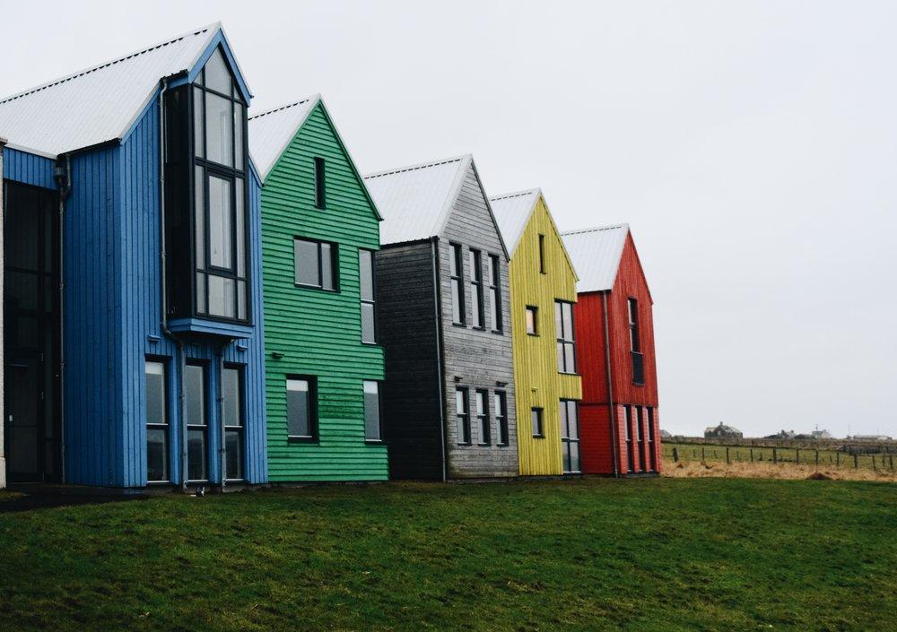 John o'Groats rainbow houses