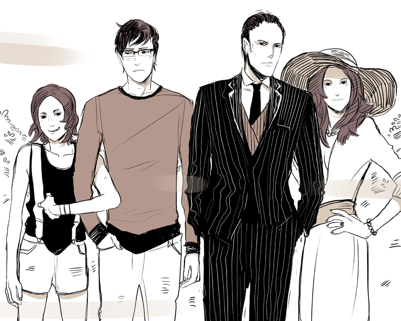 A NEW NON-SPOILER PIECE OF MADNESS UNDERNEATH ART! This, quite specifically, is Stephen's family photo. You'll see it in the BOOK. It's RELEVANT. As ever, the pre-order info (the one with the SIGNED BOOK and GIFTS) is here. (Art by Cassandra Jean)