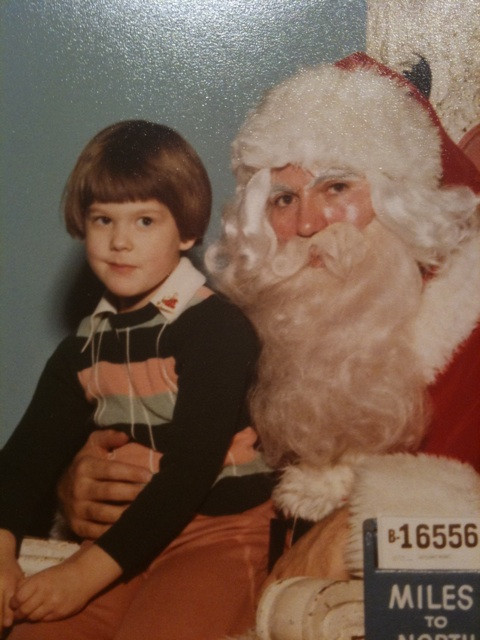 Five year old mj and Santa. Steal this look!