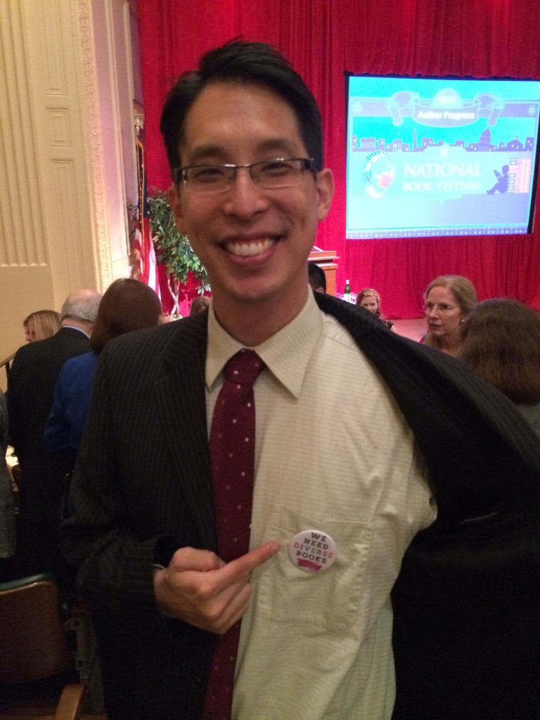 """fishingboatproceeds: sarazarr: weneeddiversebooks: Read This: Gene Luen Yang's rousing comics speech at the 2014 National Book Festival gala From the Washington Post, article here. GENE LUEN YANG, Library of Congress, Jefferson Building: Good evening. Thank you, Library of Congress and National Book Festival, for inviting me to share the stage with such esteemed authors, and to speak with all of you. I am deeply grateful for this honor. I'm a comic-book guy, so tonight I'd like to talk about another comic book guy. Dwayne McDuffie was one of my favorite writers. When I was growing up, he was one of the few African-Americans working in American comics. Dwayne worked primarily within the superhero genre. He got his start at Marvel Comics but eventually worked for almost every comic book publisher out there. He even branched out into television and wrote for popular cartoon series like """"Justice League"""" and """"Ben 10."""" Dwayne McDuffie Dwayne McDuffie is no longer with us, unfortunately. He passed away in 2011, at the age of 49. But within comics, his influence is still deeply felt. I was lucky enough to have met him once. About a year before his death, we were on a panel together at Comic-Con. I had the opportunity to shake his hand and tell him how much his work meant to me. In a column Dwayne wrote in 1999, he talked about his love of the Black Panther, a Marvel Comics character. The Black Panther's secret alias is T'Challa, the king of the fictional African nation of Wakanda. He has super senses, super strength, and super agility. He's an Avenger, though he hasn't yet made it into the movies. The Black Panther wasn't created by African American cartoonists. He was created in July of 1966 by two Jewish Americans, Stan Lee (who was born Stanley Lieber) and Jack Kirby (who was born Jacob Kurtzberg). By modern standards, the Black Panther is not a flawless example of a black superhero. In their first draft of the character, Lee and Kirby called him """"the Coal Tiger"""" and gav"""