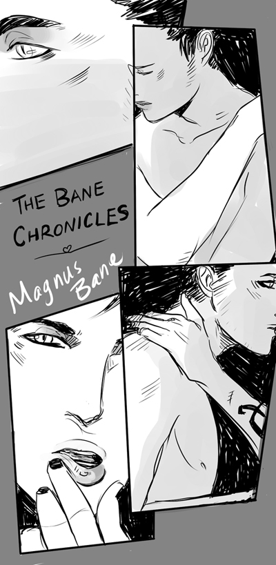 cassandrajp: a VERY hurried drawing to celebrate the announcement of #TheBaneChronicles by @CassieClare and her friends! I am very excited about this mhmmm (but seriously I am smack dab in the middle of work right now augh DISTRACTIONS) AWESOME.