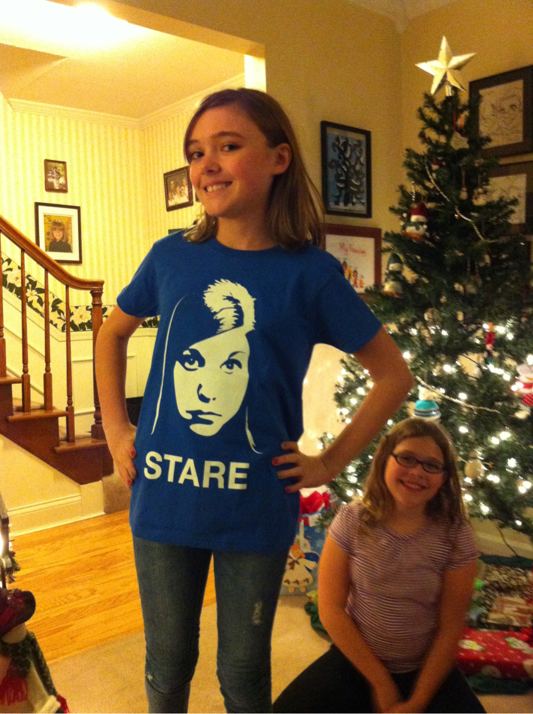 wwyg: Sarah raises her Nerdfighter cred a bit higher. It's the fact that this photo is taken IN FRONT OF A CHRISTMAS TREE that really wins me over.